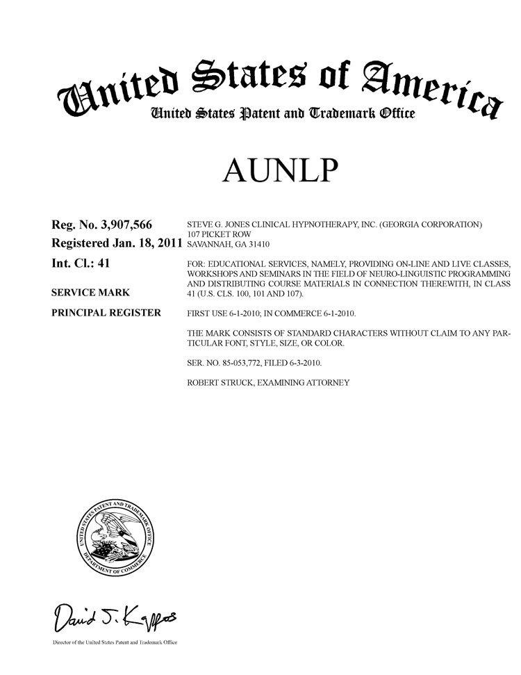 AUNLP Rg Certificacion en PNL por la AUNLP (R)
