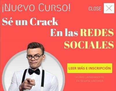 Curso Sé un Crack en las Redes Sociales
